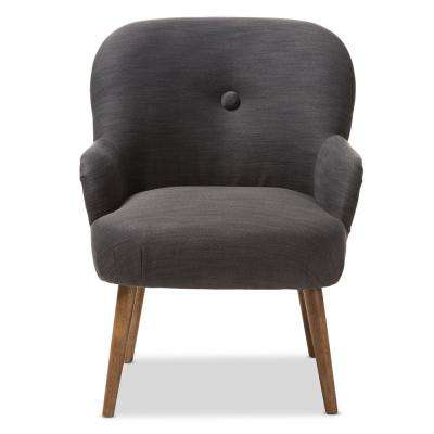 Linnea Grey Fabric Upholstered Lounge Chair