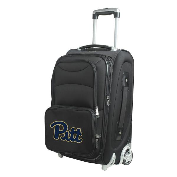 Denco NCAA Pittsburgh 21 in. Black Carry-On Rolling Softside Suitcase