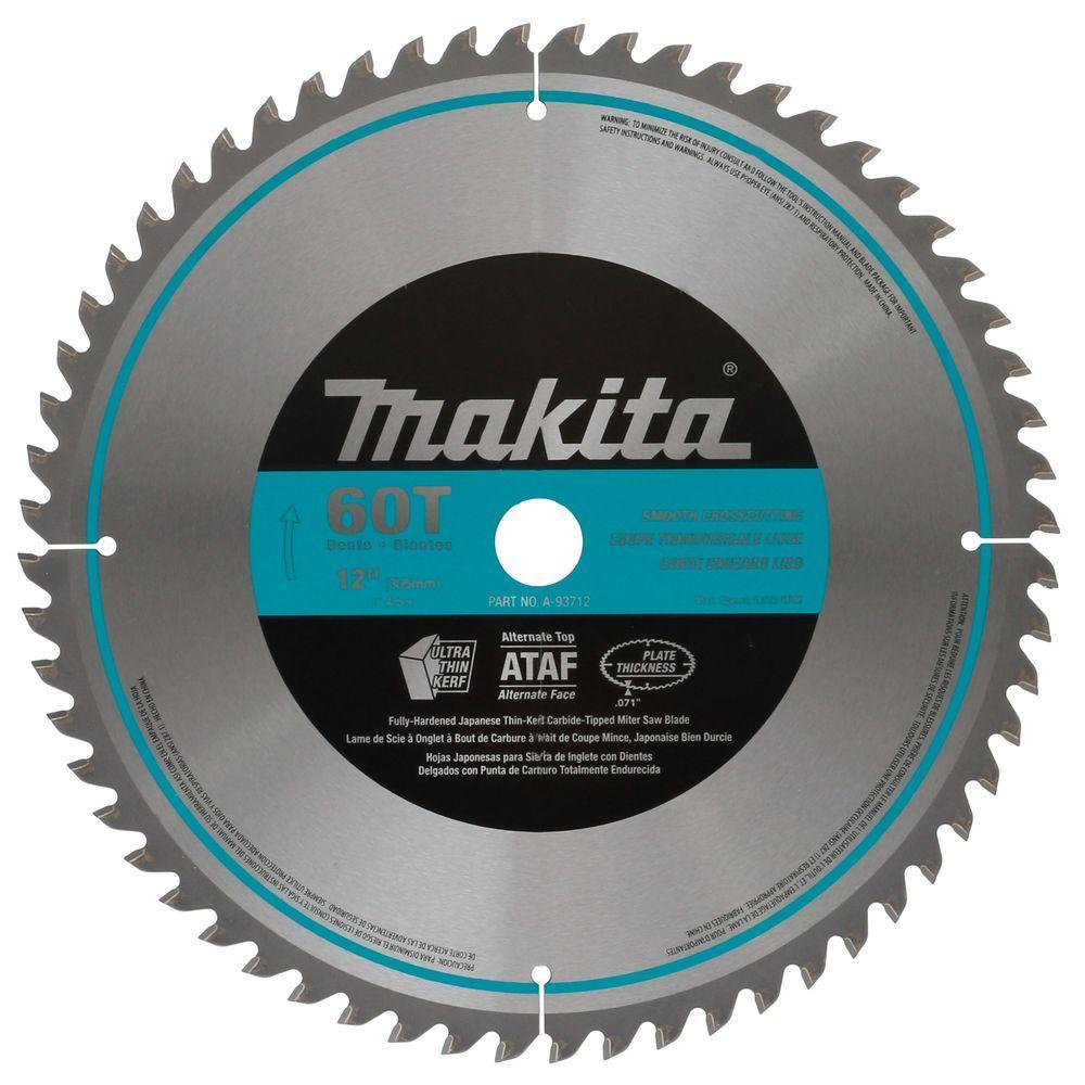 12 in. x 1 in. 60-Teeth Micro-Polished Miter Saw Blade