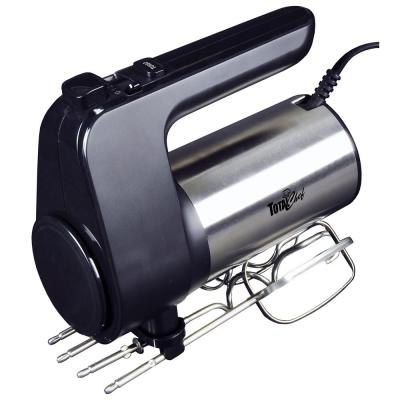 250-Watt 6-Speed Black/Silver Hand Mixer with Turbo Boost