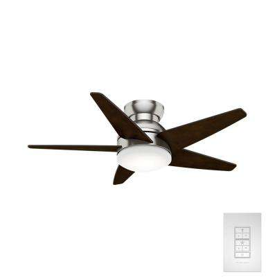 Isotope 44 in. LED Indoor Brushed Nickel Ceiling Fan