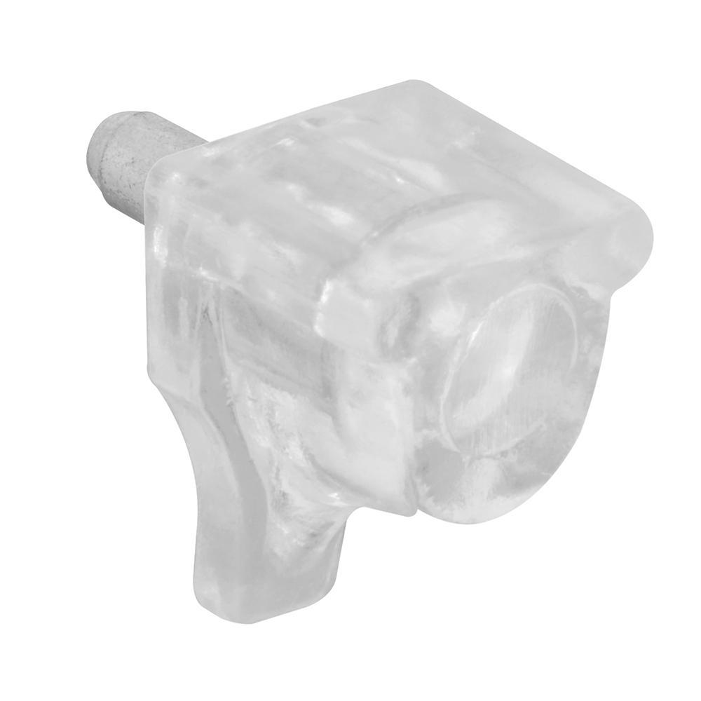 10 lb. 3mm Clear Plastic Shelf Pegs (8-Pack)