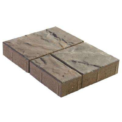 Panorama Demi 3-pc 7.75 in. x 7.75 in. x 2.25 in. Bluestone Concrete Paver (240 Pcs. / 103 Sq. ft. / Pallet)