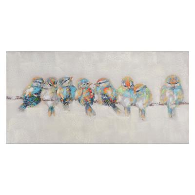 23.7 in. H by 47.3 in. W Afternoon Gathering Original Hand Painted Wall Art in Canvas