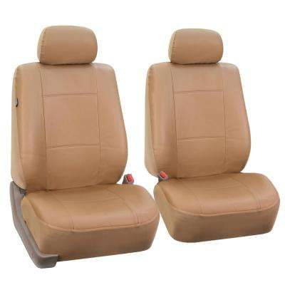 Premium PU Leather 15 in. x 12 in. x 6 in. Half Set Front Seat Covers