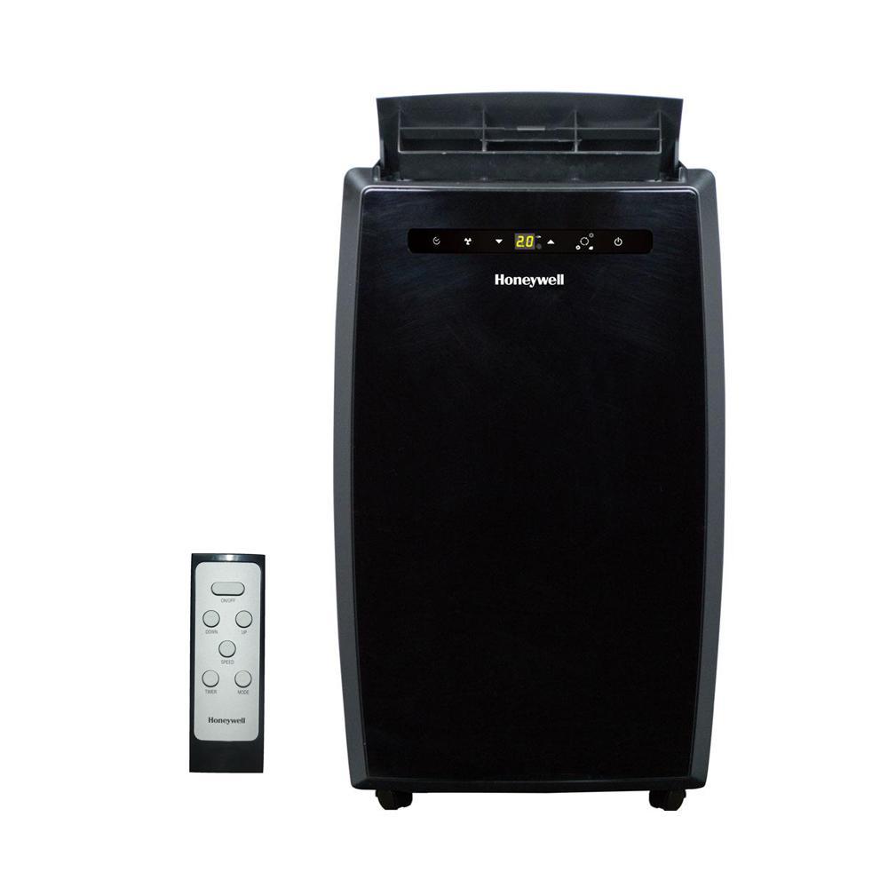 12,000 BTU Portable Air Conditioner with Dehumidifier and Remote Control in Black