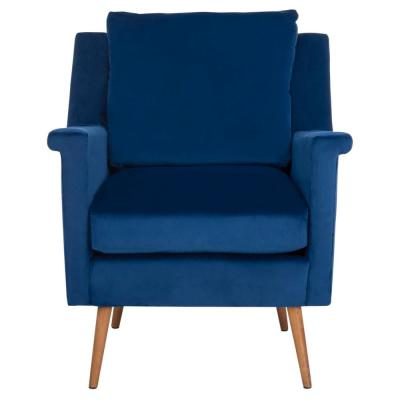 Astrid Navy/Natural Accent Chair