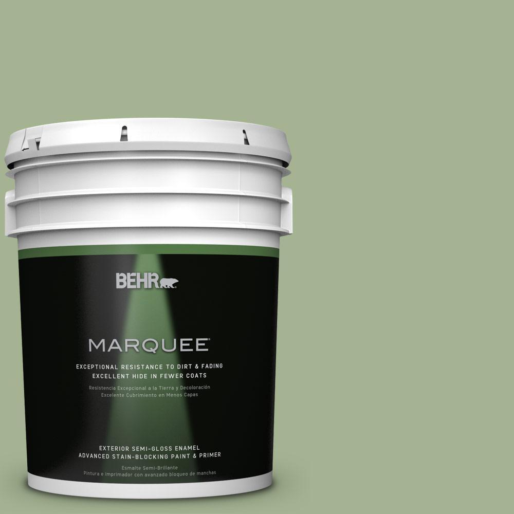 BEHR MARQUEE 5-gal. #PPU11-6 Willow Grove Semi-Gloss Enamel Exterior Paint