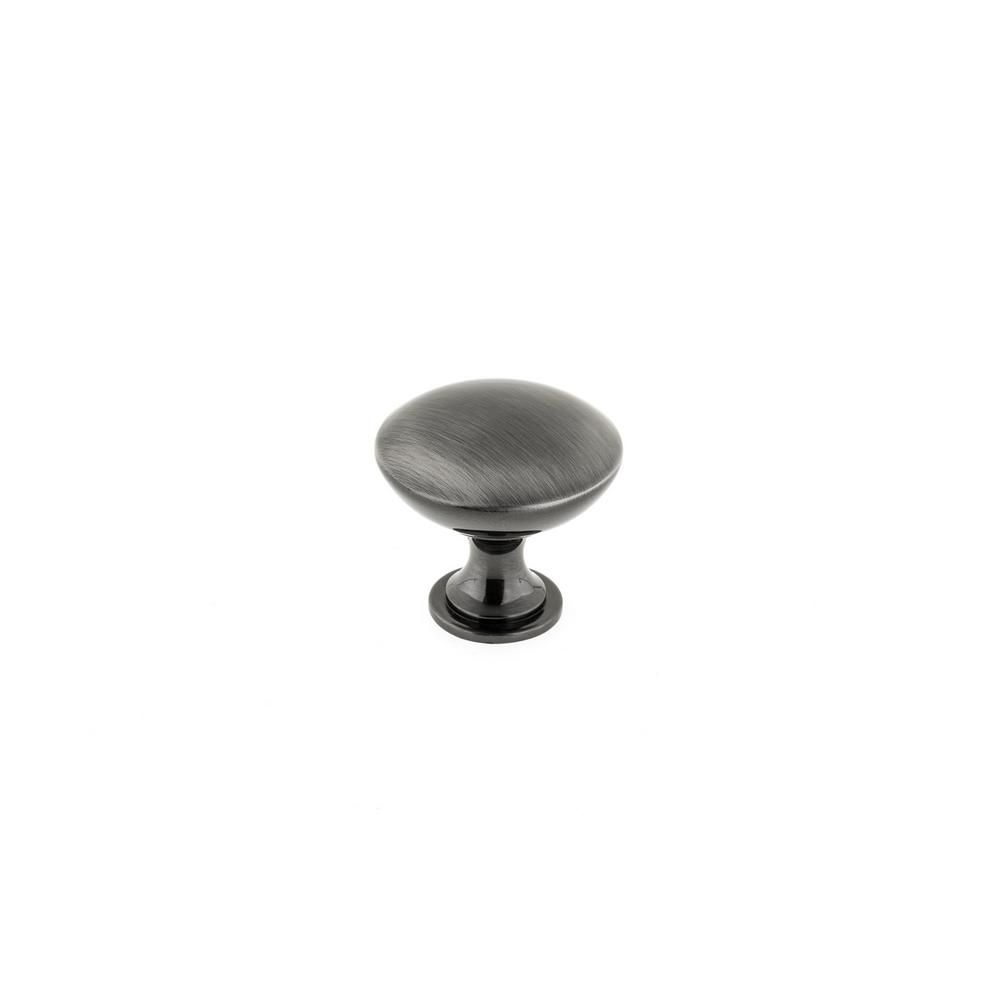 Black stainless steel modern metal cabinet knob