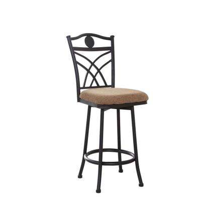 Swiveling Metal Bar Stool 40 in. H with Cushioned Seat