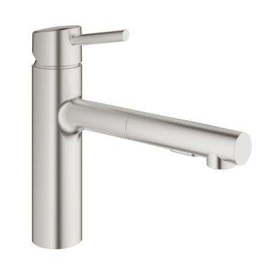 Concetto Single-Handle Pull-Out Sprayer Kitchen Faucet in SuperSteel Infinity Finish