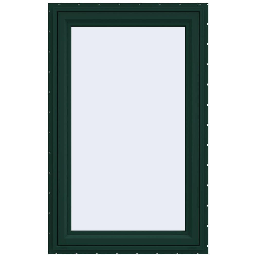 29.5 in. x 47.5 in. V-4500 Series Left-Hand Casement Vinyl Window - Green
