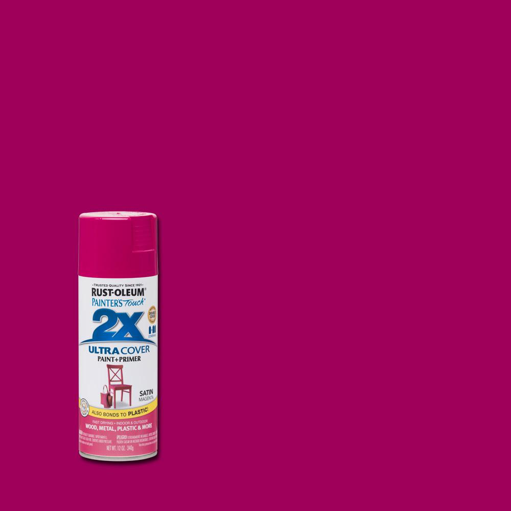 Rust-Oleum Painter's Touch 2X 12 oz. Satin Magenta General Purpose Spray Paint