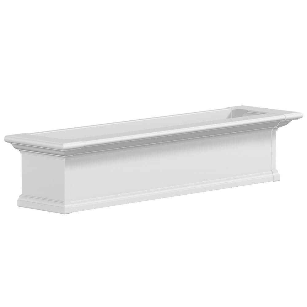 Mayne 4 ft. Yorkshire Window Box-Assembled White