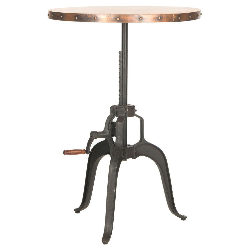 Nesta Copper Adjustable Pub/Bar Table