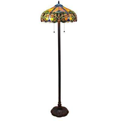 61 in. Tiffany Style Baroque Floor Lamp
