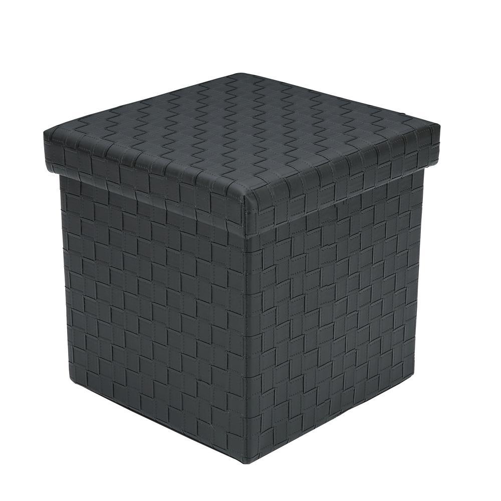 Poly and Bark Preston Black Cube Storage Ottoman HD-358-BLK
