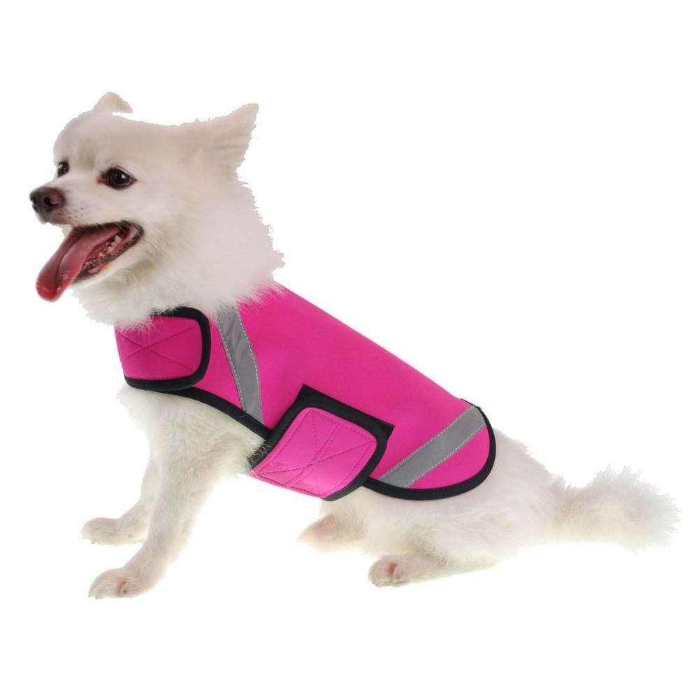 Large Pink Extreme Neoprene Multi-Purpose Protective Shell Dog Coat
