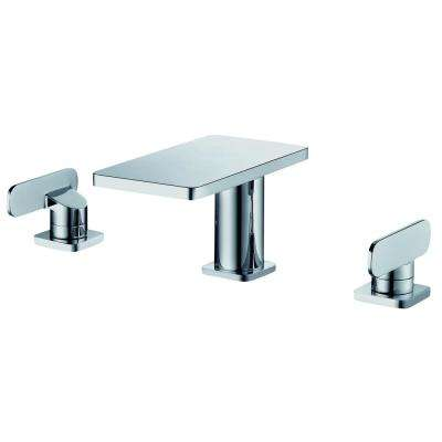 8 in. Widespread 2-Handle Bathroom Faucet in Polished Chrome