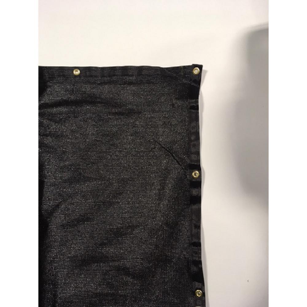 92 in. H x 600 in. W High Density Polyethylene Black Privacy/Wind Screen Fencing