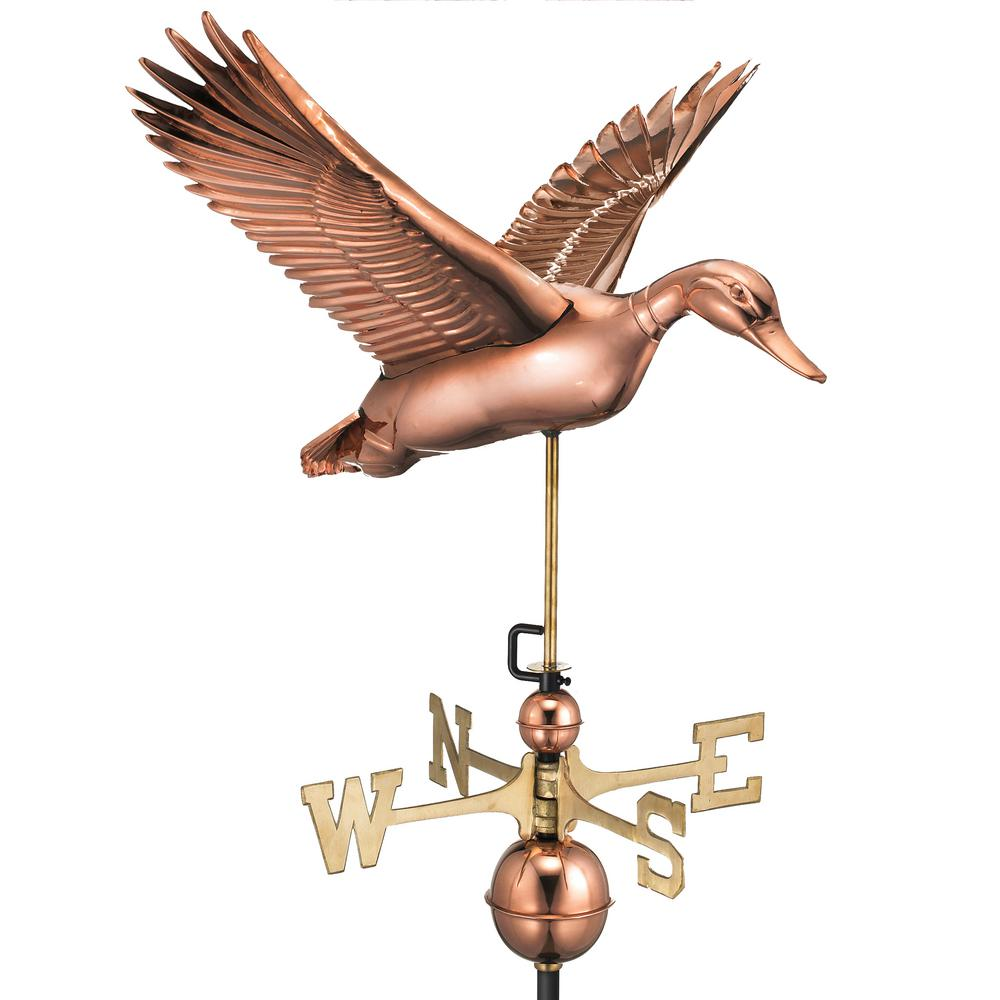 Flying Duck Weathervane - Pure Copper