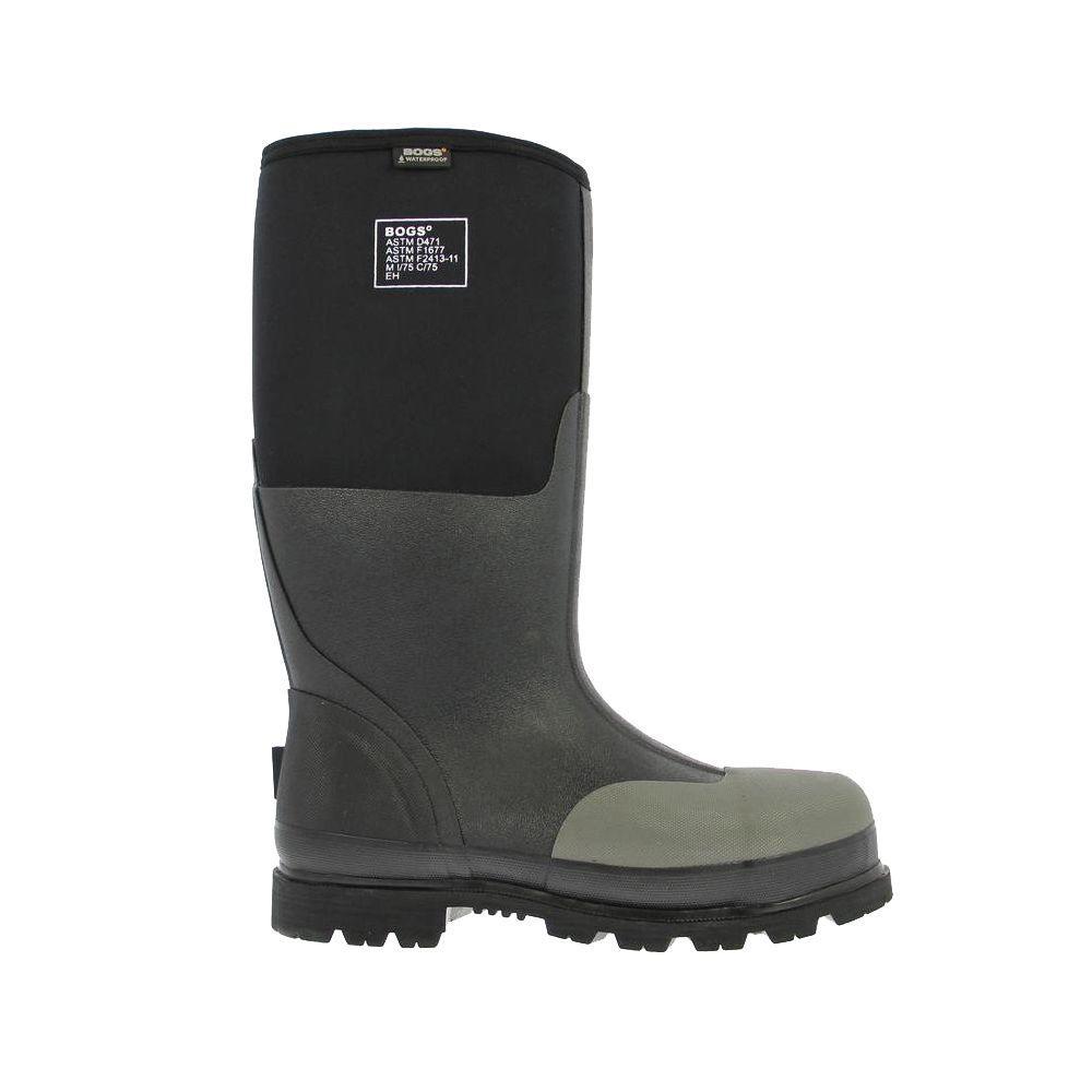 d0a03f8eaad98 BOGS Forge Steel Toe Men 16 in. Size 5 Black Waterproof Rubber with Neoprene  Boot