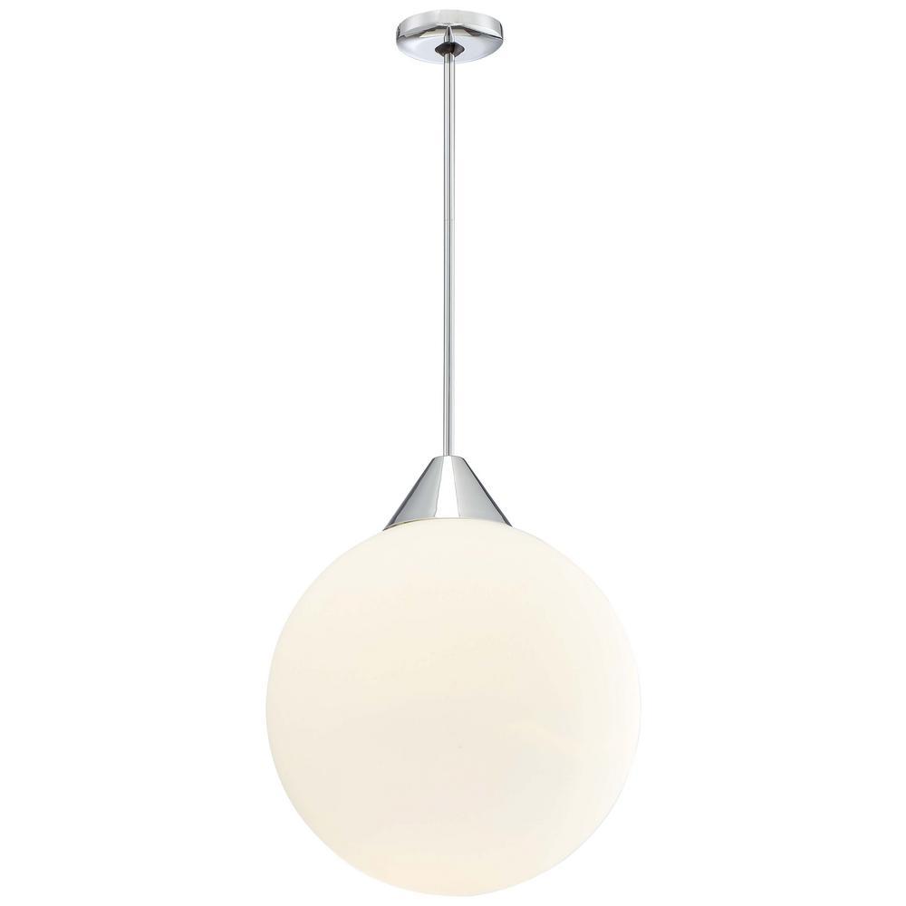 George Kovacs Simple 1-Light Chrome Pendant