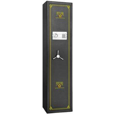 Electronic 5 Gun Rifle Safe 4.26 CF Gun Cabinet Secure Lock Firearms