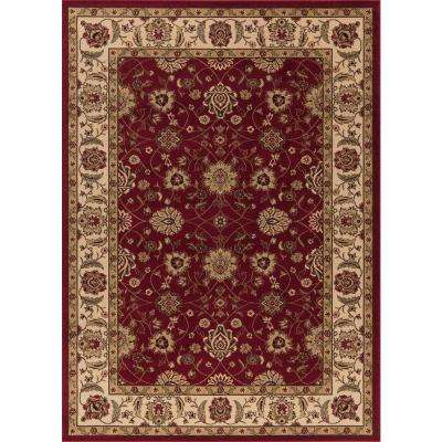 Ankara Zeigler Red 7 ft. x 10 ft. Area Rug