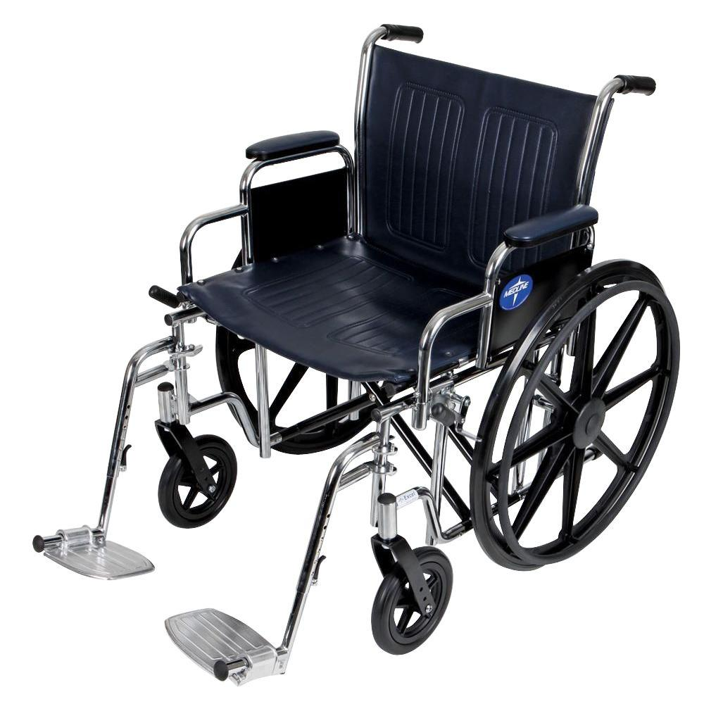 medline excel manual wheelchair mds806700 the home depot