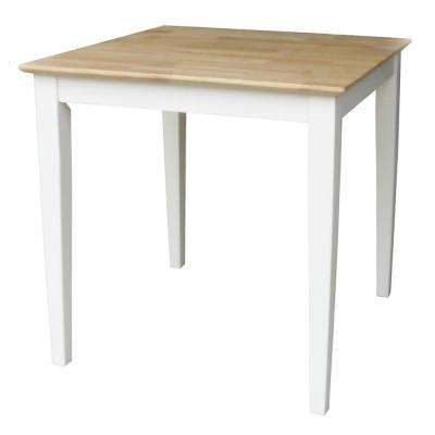 White and Natural Dining Table