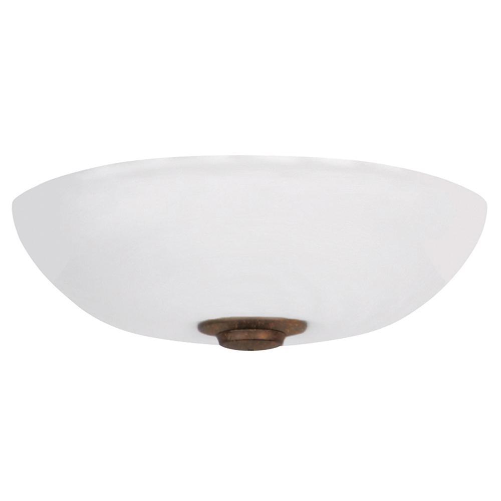 Harlow Opal Matte 3-Light Gilded Bronze Ceiling Fan Light Kit
