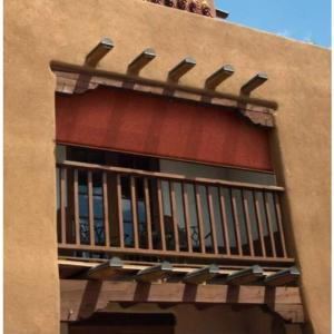 Coolaroo Terracotta Exterior Roller Shade 48 In W X 72 In L 462147 The Home Depot