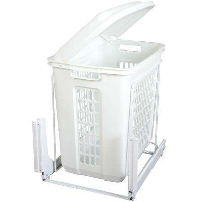Door-Mounted Roll Out Plastic Hamper