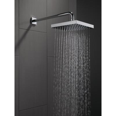 1-Spray 8 in. Single Wall Mount Fixed Rain Shower Head in Chrome