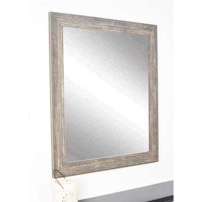 Simply Distressed Chocolate Wall Mirror