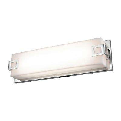 Prospect 15 in. Chrome with Acrylic Diffuser Linear Vanity Light