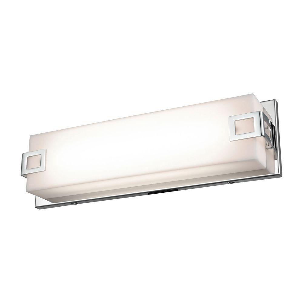 Prospect 15 in. Chrome with Acrylic Diffuser Linear Vanity Light-TN-93087 - The Home Depot