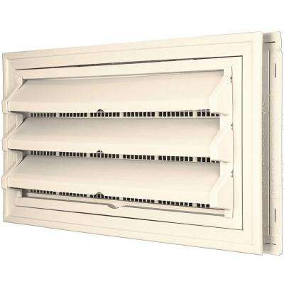 9 3/8 in. x 17 1/2 in. Foundation Vent Kit W/Trim Ring & Optional Fixed Louvers (Galvanized Screen)Sandstone Beige #021