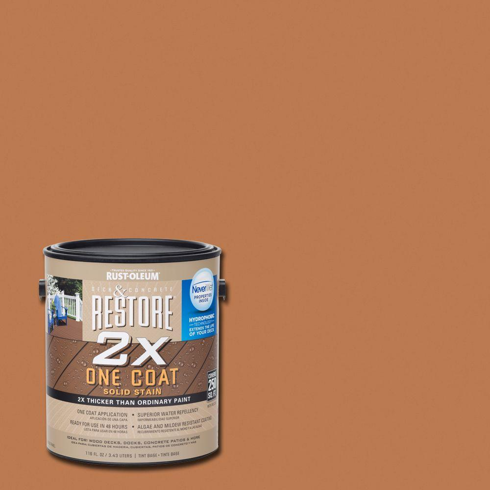 1 gal. 2X Cedartone Solid Deck Stain with NeverWet