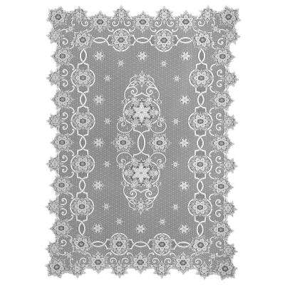 Snowflake White Polyester Tablecloth