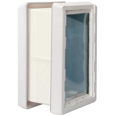9.75 in. x 17 in. Thru-the-Wall Ruff Weather Dual Flaps Including Kit for In-Wall Install Dog and Pet Door