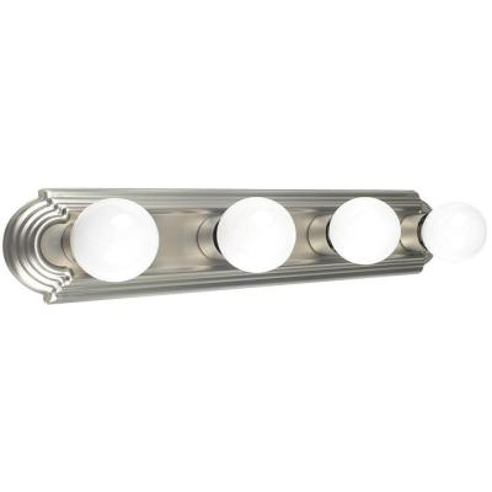 Nevaeh 4-Light Satin Nickel Bath Light