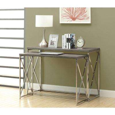 Dark Taupe 2-Piece Nesting Console Table