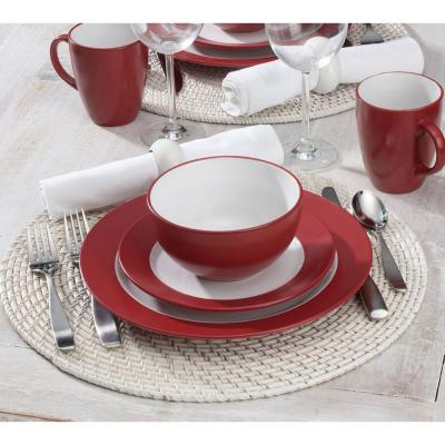 16-Piece Harmony Red Dinnerware Set