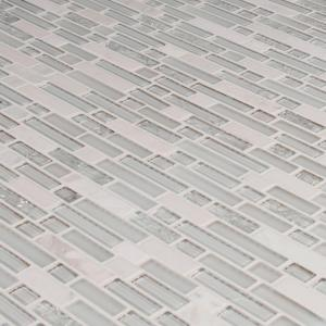 Delano Blanco 12 in. x 12 in. x 6 mm Textured Glass Stone Mesh-Mounted Mosaic Tile (1 sq. ft.)