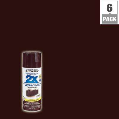 12 oz. Gloss Kona Brown General Purpose Spray Paint (6-Pack)