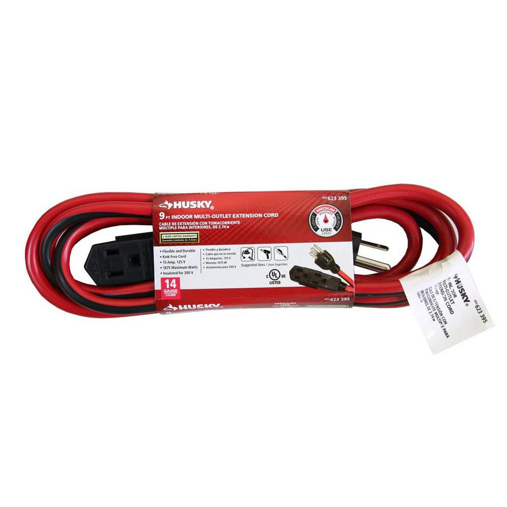 15 ft. 14/3 Banana Tap Extension Cord