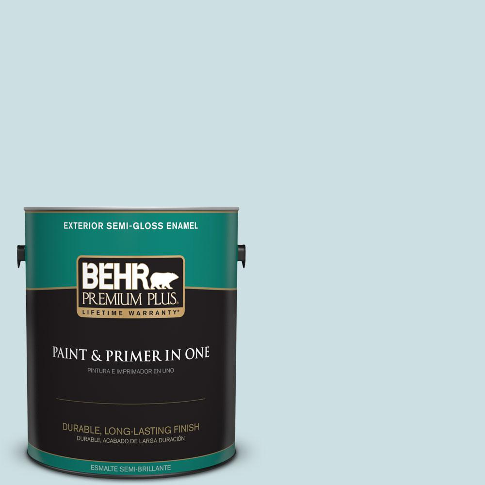 1 gal. #HDC-CT-16B Waterfall Semi-Gloss Enamel Exterior Paint