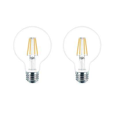 40-Watt Equivalent G25 Dimmable LED Light Bulb Daylight Globe (2-Pack)